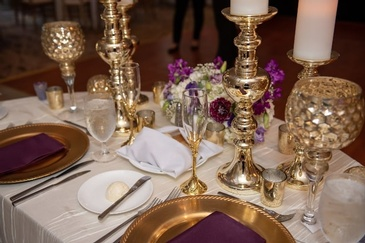 Wedding Reception Table Decoration - Partial Wedding Planning Package Atlanta at Kris Lavender