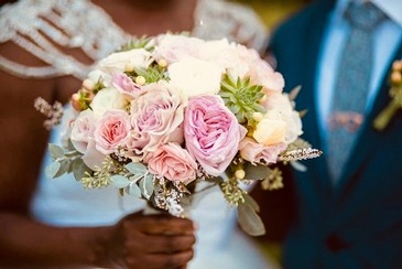 Bride holding Bouquet of Flowers - Event Planners in Atlanta GA