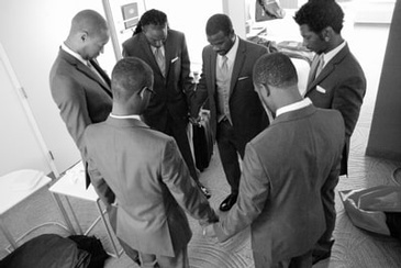 Group of Men Forming a Circle - Wedding Planner Marietta at Kris Lavender