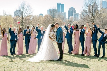 Nate and Jennifer - Newly Wed Couple Touch Foreheads - Wedding Planner Atlanta - Kris Lavender
