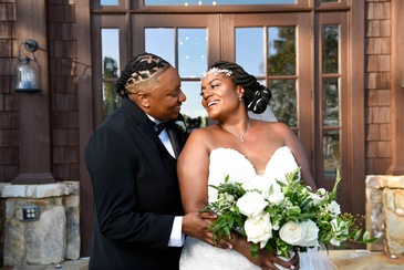 Newly Wed Couple Candis and Mecha - Full Wedding Planning Packages by Kris Lavender - Wedding Planner Marietta GA