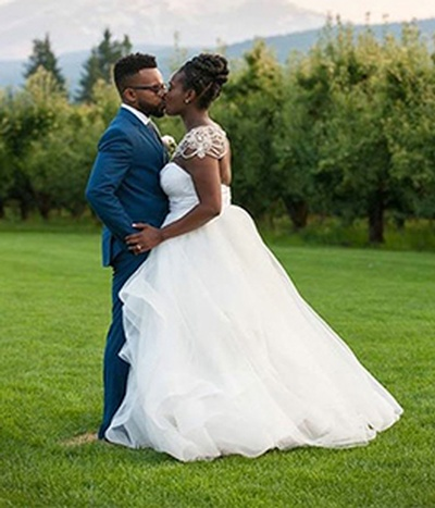 Newly Wed Couple - Kent and Jessica - Wedding Packages Atlanta at Kris Lavender