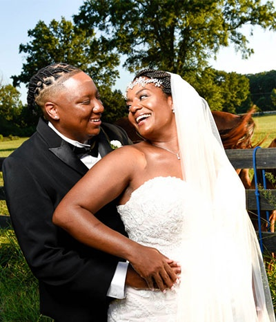 Newly Wed Couple - Candis and Mecha - Wedding Packages Atlanta at Kris Lavender