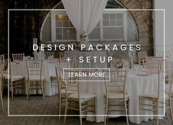Design Packages and Setup by Kris Lavender - Wedding Coordinator Atlanta